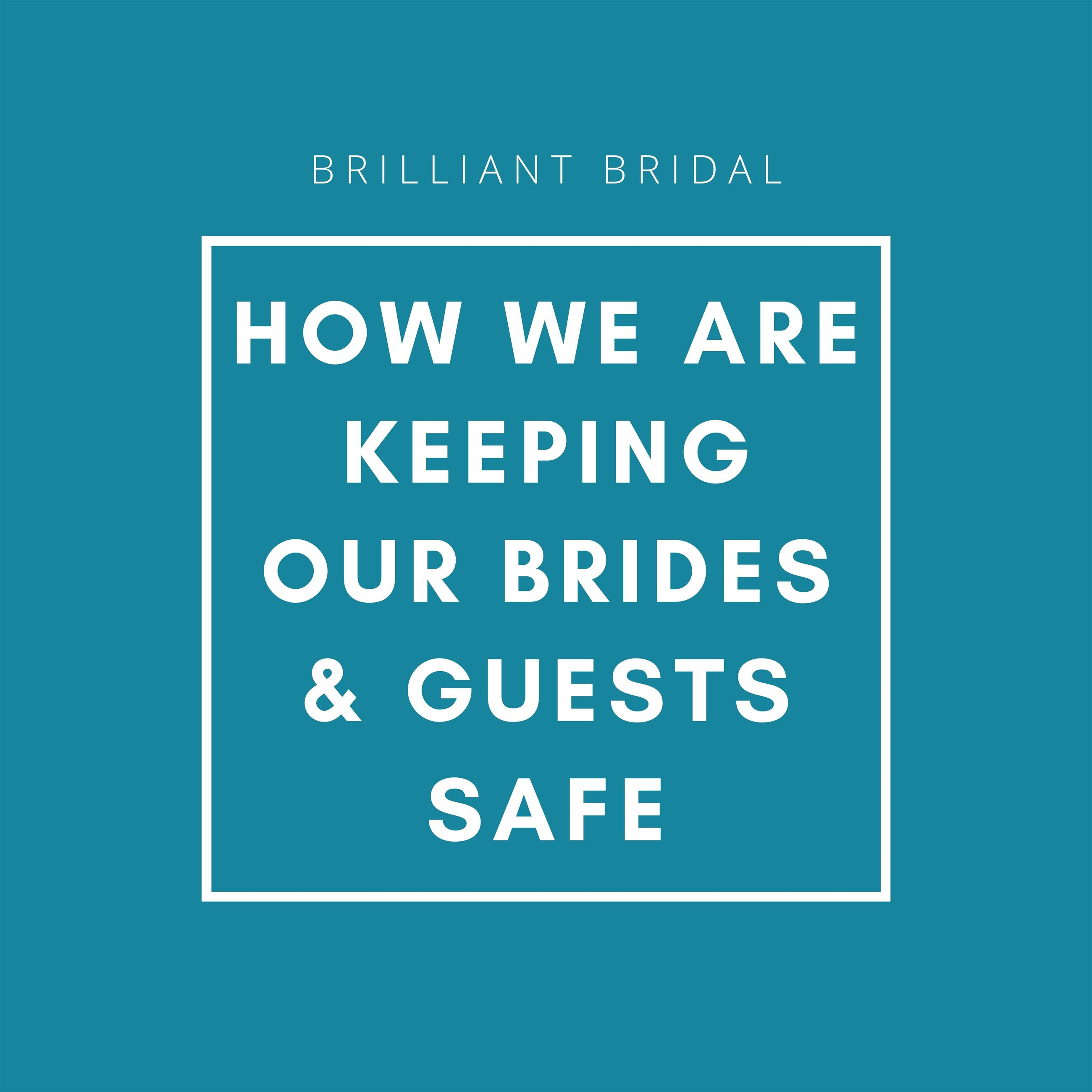 How we are keeping our brides & guests safe. Desktop Image