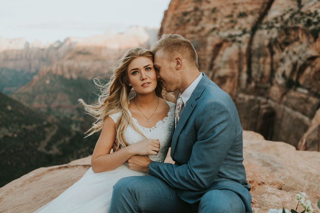 Our Brilliant Bride Johanna | Zion National Park Image
