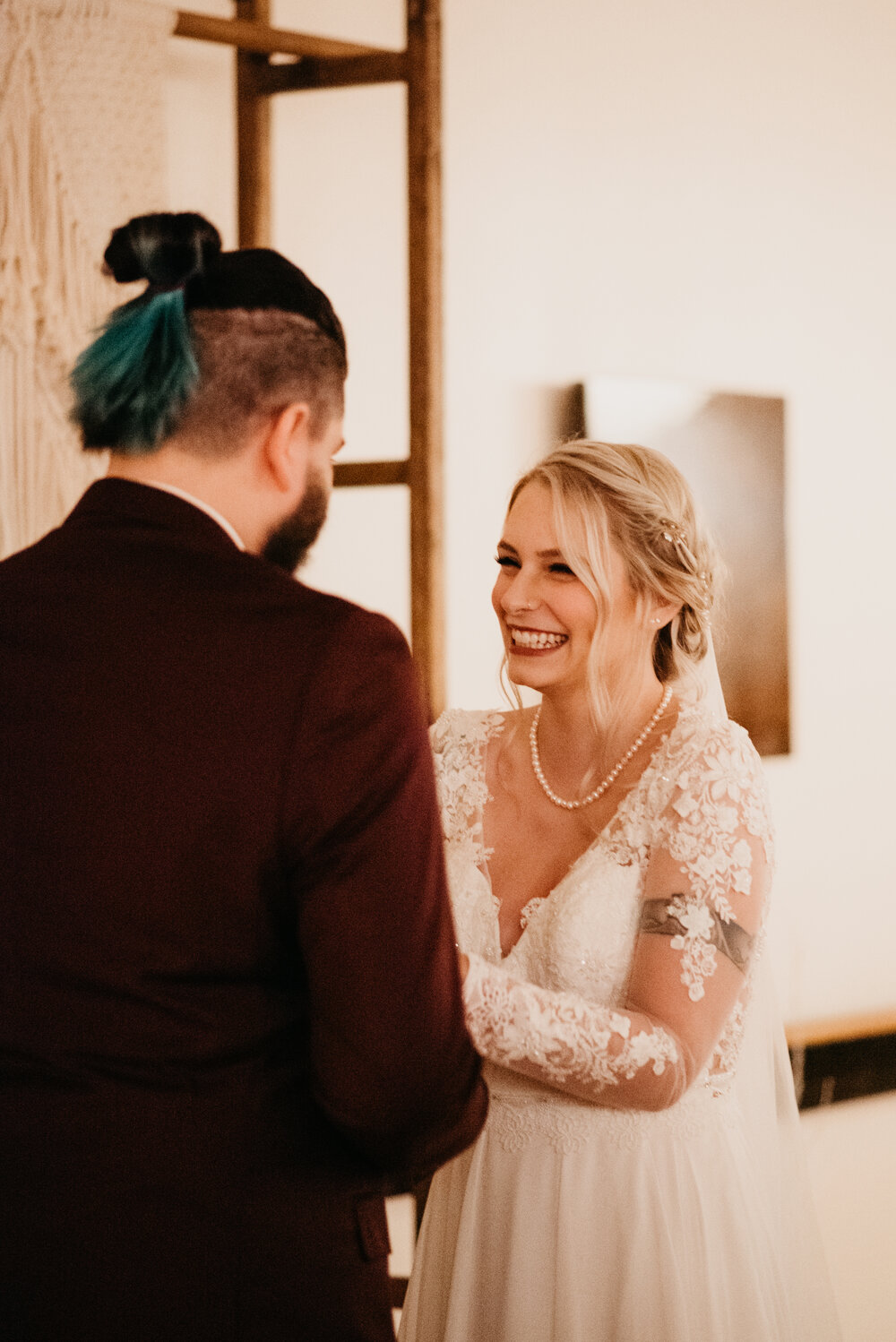 Our Brilliant Bride Tierney | Yoga Studio Wedding Image