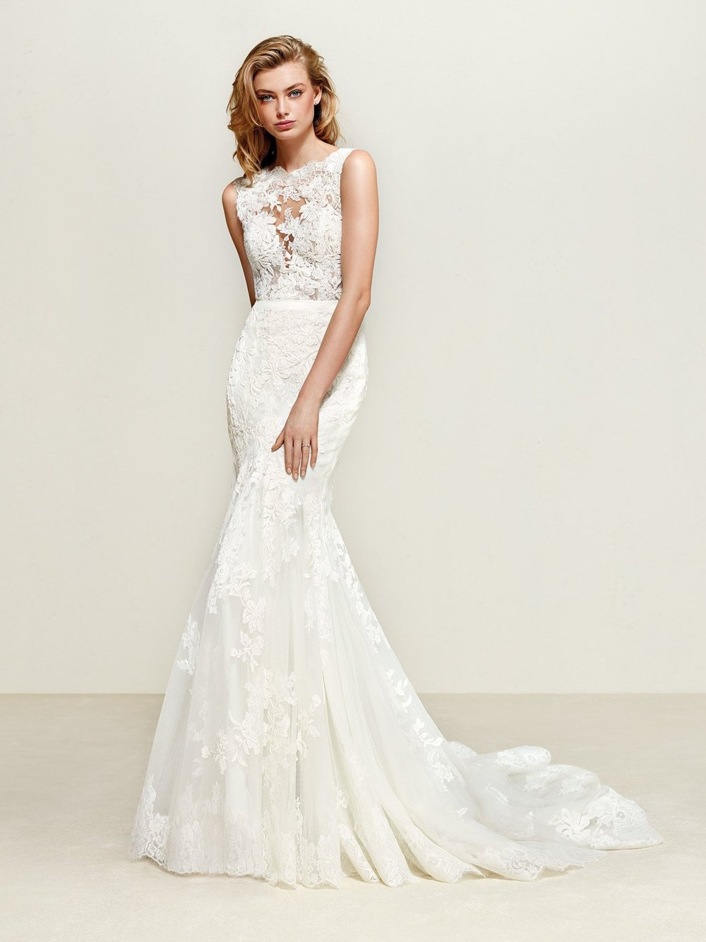 Pronovias Dril Off White // contact us for price